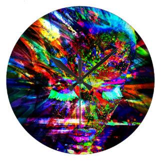 Abstract Goddess Large Clock