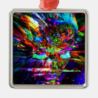 Abstract Goddess Metal Ornament