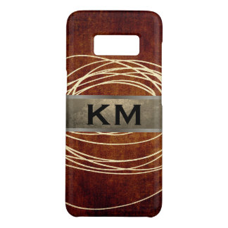Abstract Gold Glitter Scribble Rustic Brown Case-Mate Samsung Galaxy S8 Case