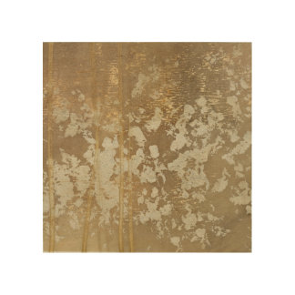 Abstract Gold Painting with Silver Speckles Wood Wall Art