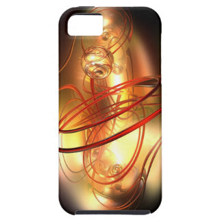Abstract gold pearl with red ring iPhone 5 cases