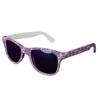 Abstract Gold Pink Flowers Sunglasses
