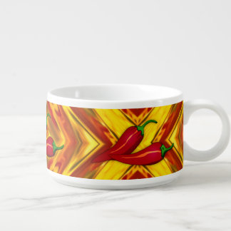 abstract gold red orange spicy hot peppers chili bowl