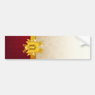 Abstract golden ribbon and vector background bumper sticker