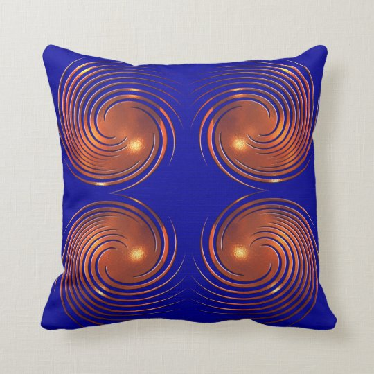 Abstract Golden spiral illustration. Throw Pillow
