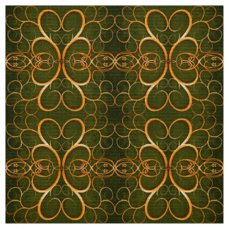 abstract golden swirl pattern fabric