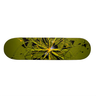 Abstract Golden Swirls Skateboard Deck