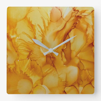 abstract golden yellow clock