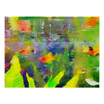 Abstract Goldfish Fish Bowl Aquarium Watercolor 2 Poster