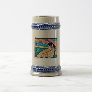 abstract golf color 18 oz beer stein