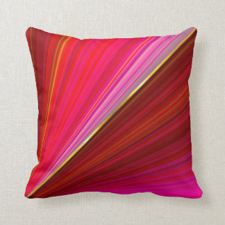 Abstract gradient red texture. throw pillow