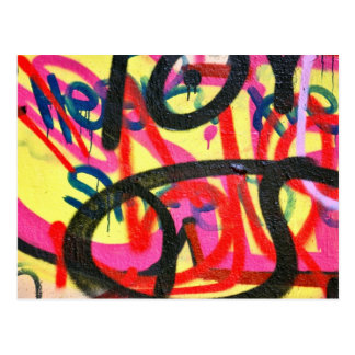 abstract graffiti background postcard