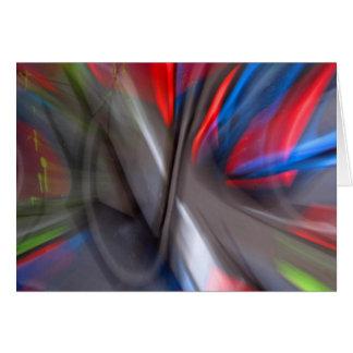 Abstract Graffiti Card