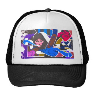 Abstract graffiti trucker hat