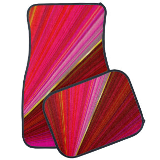 Abstract gragient geometric red texture. car mat
