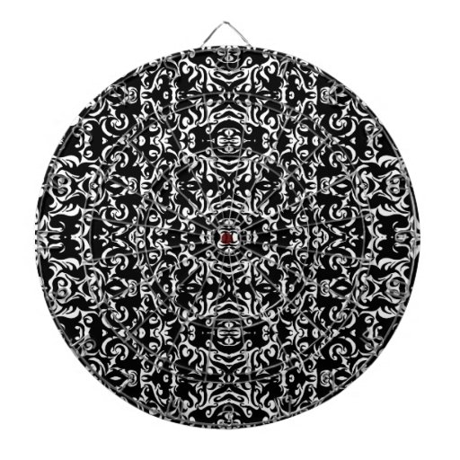Abstract Graphic Art Design Damask Doodle Game Dart Board