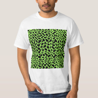 Abstract Graphic Pattern Black and Lime Green. T-Shirt