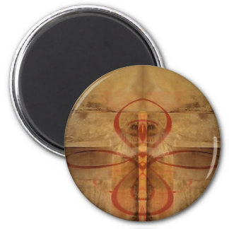 Abstract Graphics 2 Inch Round Magnet