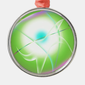abstract graphics metal ornament