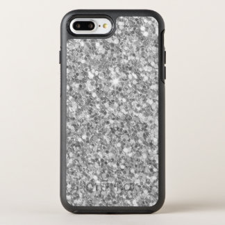 Abstract Gray And White Glitter OtterBox Symmetry iPhone 8 Plus/7 Plus Case