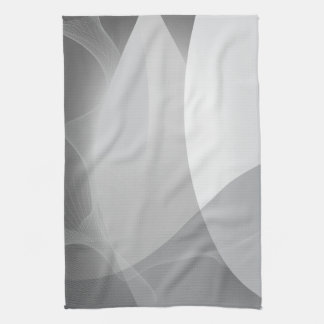 Abstract Gray and White Pattern Kitchen Towels