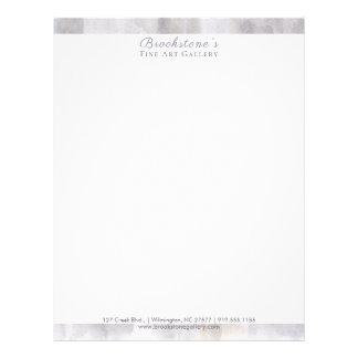 Abstract Gray & Tan Watercolor Letterhead