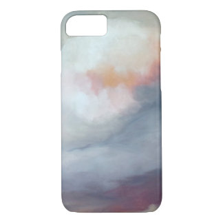 Abstract Gray with Pink Art iPhone 8/7 Case