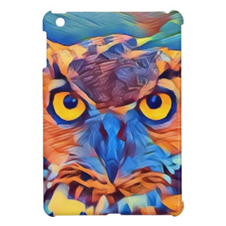 Abstract Great Horned Owl Case For The iPad Mini