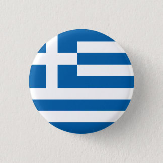 Abstract Greece Flag, Greek Artwork Button