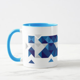 Abstract Greece Flag, Greek Artwork Mug