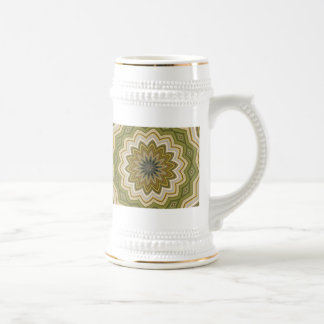 Abstract Green 18 Oz Beer Stein