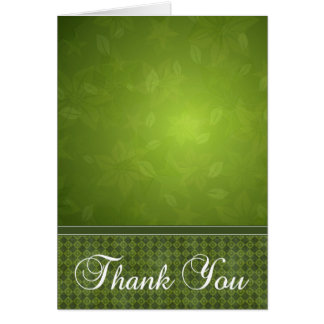 Abstract Green 2 Note Card