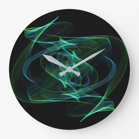 Abstract Green And Blue Clock