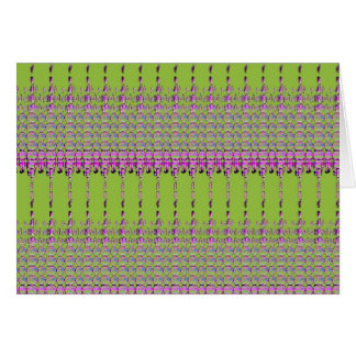 Abstract green and Pink pattern Card