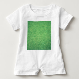 Abstract green baby romper