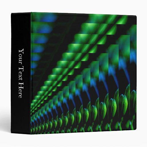 Abstract Green Black Blue Hues Binder