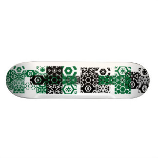 Abstract green black fun cool Skateboard