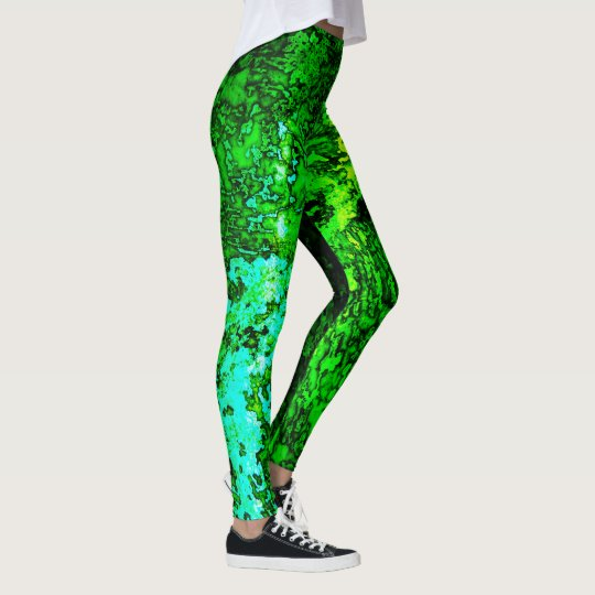 Abstract Green&Blue Leggings