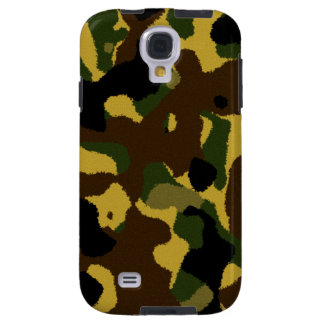 Abstract green brown yellow camouflage pattern