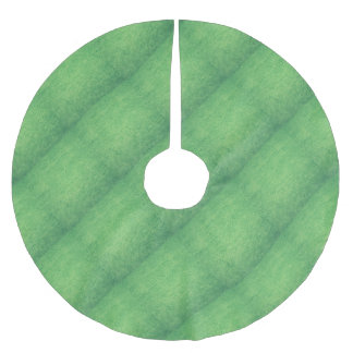 Abstract green brushed polyester tree skirt