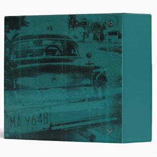 Abstract green car vinyl binders