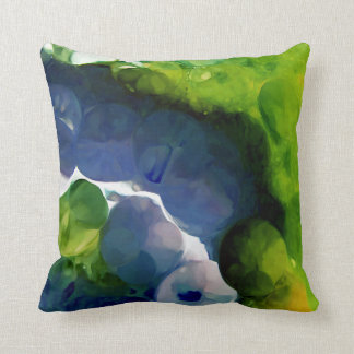 Abstract Green & Dark Blue Painting Throw Pillow