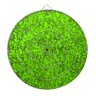 abstract green dartboard
