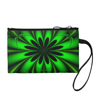 Abstract Green Fractal Jungle Coin Purse