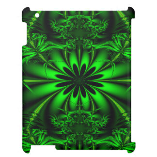 Abstract Green Fractal Jungle iPad Cases