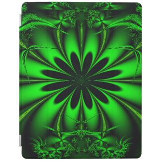 Abstract Green Fractal Jungle iPad Cover