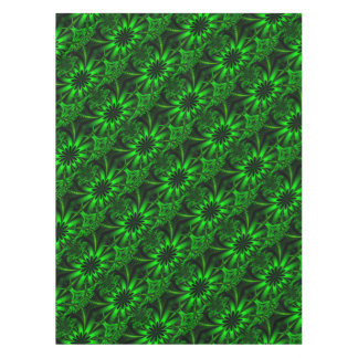 Abstract Green Fractal Jungle Tablecloth