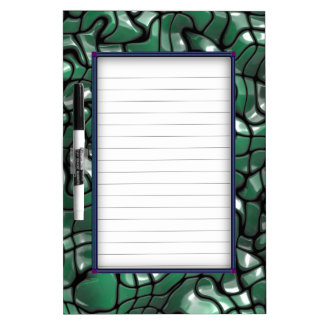 Abstract Green Gem Design Dry Erase Board