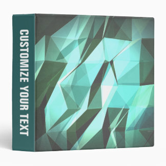 Abstract Green Geometry Vinyl Binders