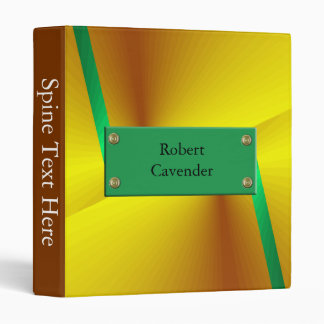 abstract green gold binder
